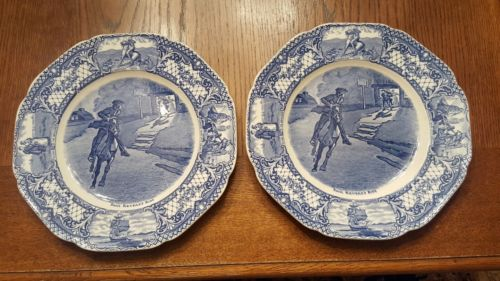 Set of 2 Crown Ducal Colonial Times Lunch Plates