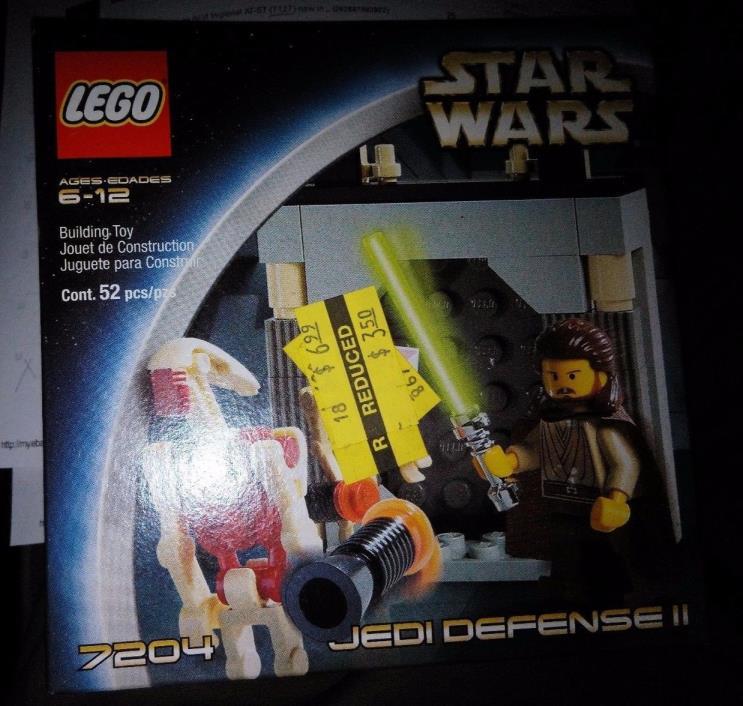 New in Sealed Box Lego Star Wars Episode I Jedi Defense II (7204) qui-gon jin