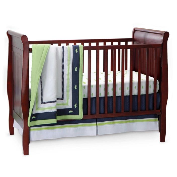 New Bananafish Nantucket Crib Bedding Set Alligator Nursery 3-Piece