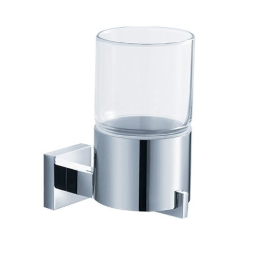 Kraus KEA-14403CH Aura Bathroom Accessories - Wall-mounted Glass Tumbler Holder