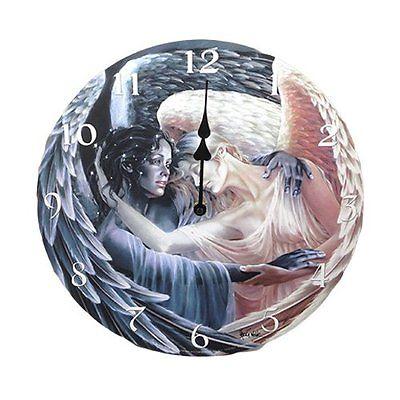 Day Surrendering Unto Night Wall Clock By Sheila Wolk