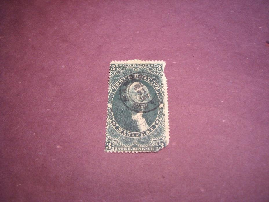 US Stamp Back of Book Scott# R86 Manifest 1862-71 C222