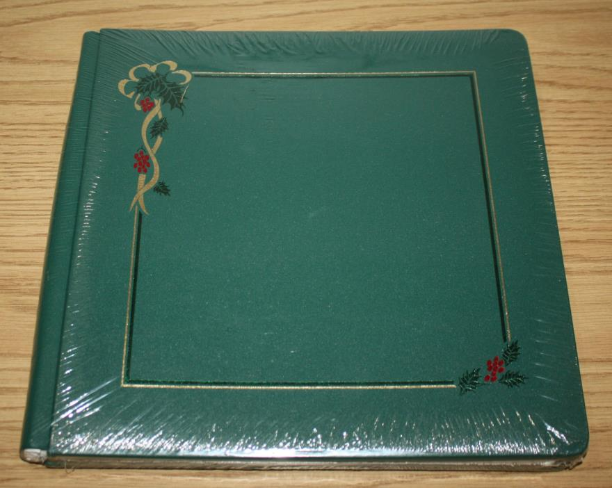NEW - Creative Memories 12x12 Album, Old Style w/ Pages, Holly Green Scrapbook