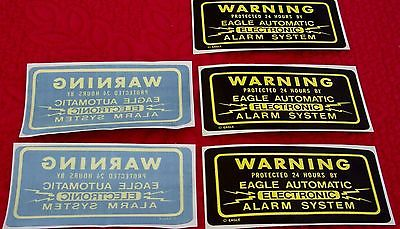 5 Alarm Warning Stickers