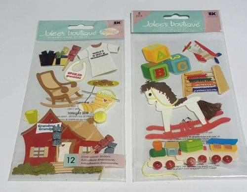 jolee's boutique lot of 2 toddler scrapbooking stickers