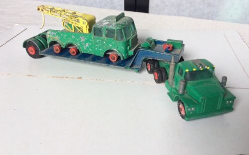 Green Matchbox Dodge Trucks Size K-16 Truck,K-17 Low loader & Foden England Toy
