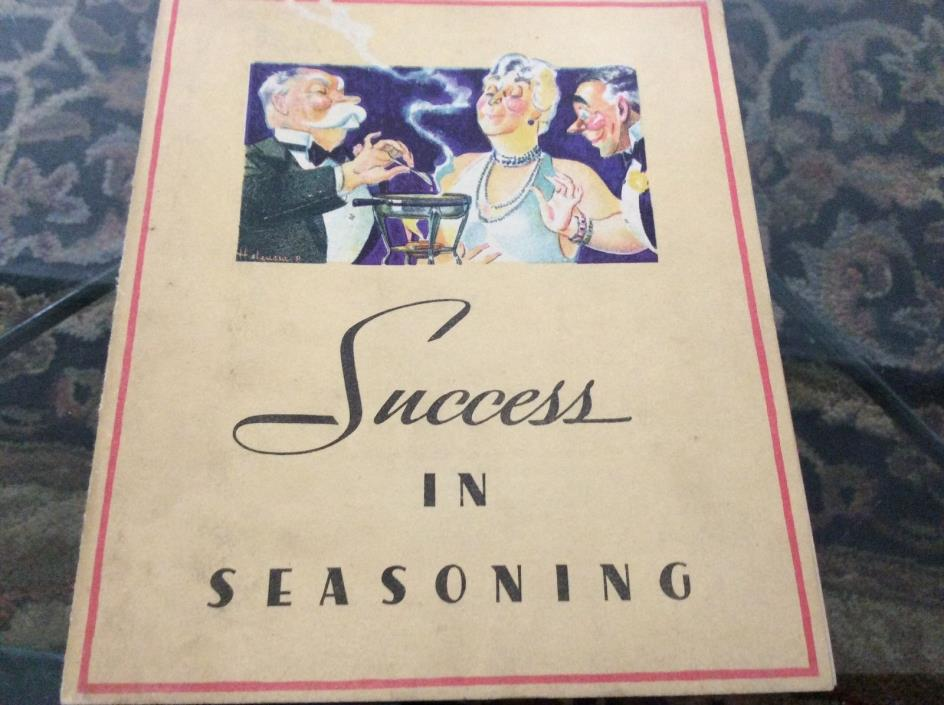 VINTAGE LEA AND PERRINS RECIPE BOOKLET, 1934, SUCCESS IN SEASONING