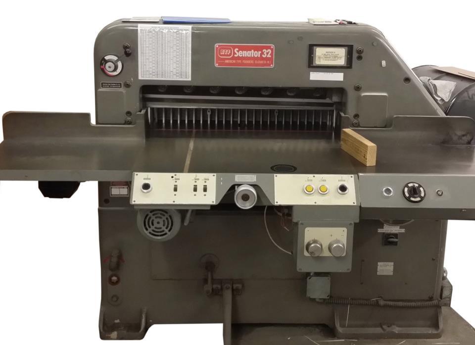 Polar paper cutter, guillotine Schneider Senator 32 Inch, Challenge, Seybold