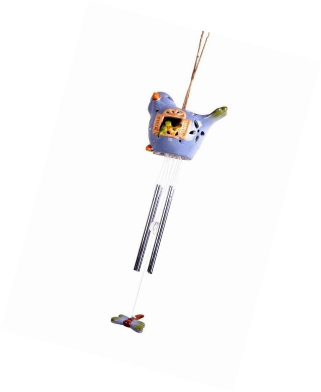 Lightahead Solar Bird Windbell Light Solar Powered Bird Color Changing LED Wind