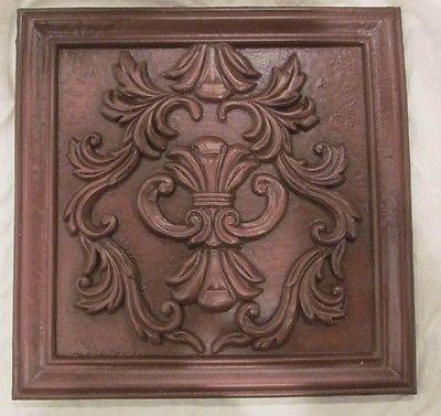 Decorative Kitchen or Shower Backsplash cast resin tile art