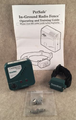 Guardian PG-1010 electronic pet fence trasmitter and 2 collars