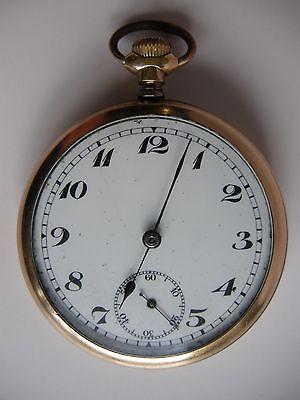 Antique Pataca Swiss 17 Jewel Men Gold Filled Pocket Watch