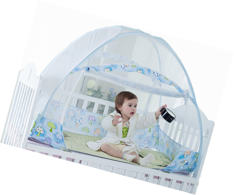 Sinotop Foldable Baby Bed Mosquito Net Tent Kids Nursery Crib Canopy Netting (12
