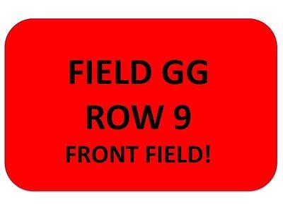 LUKE BRYAN Tickets Citizens Bank Park 9/8~ FIELD GG ROW 9~ FRONT FIELD