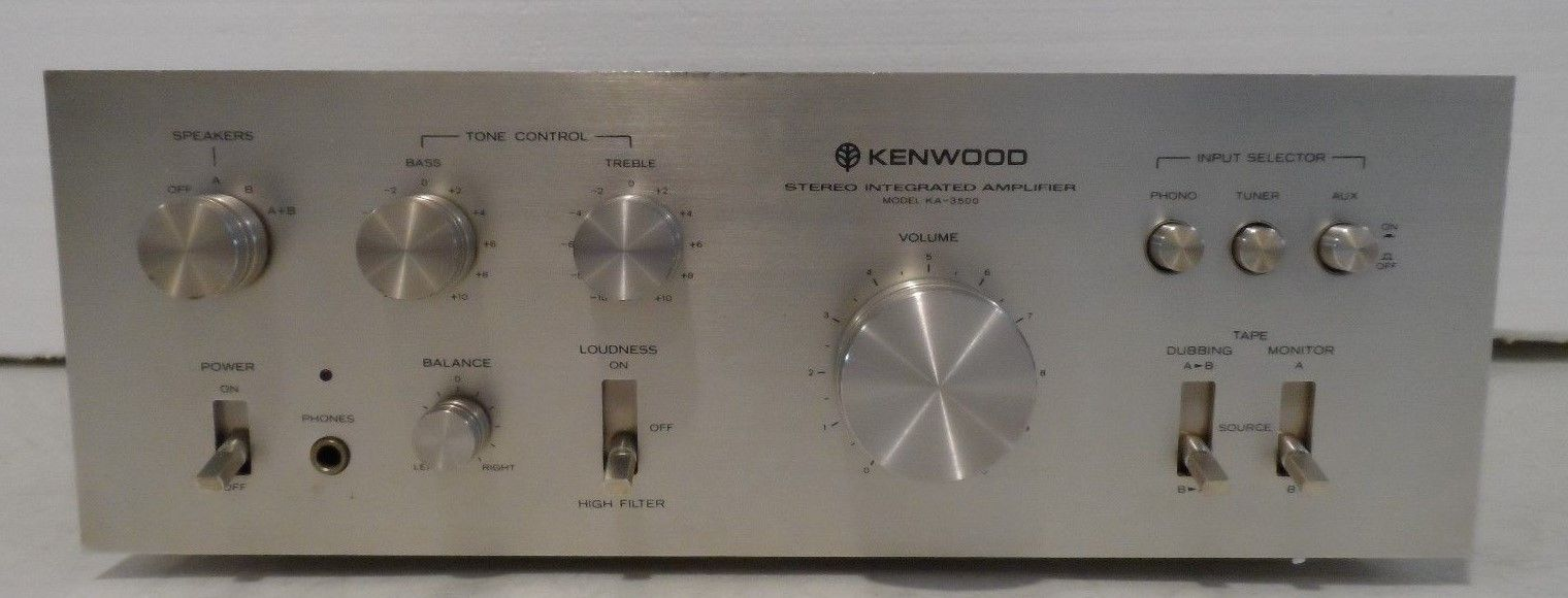Vtg Electronics Kenwood  KA-3500 Stereo Integrated Amplifier TESTED & WORKING