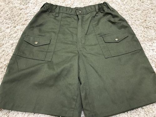 Boy Scout Green Uniform Cargo Shorts Size 18 29 Worn Twice