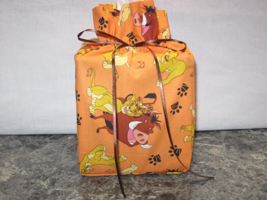Disney Lion King licensed cotton Fabric square Tissue Box Cover handmade