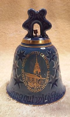 Bing & Grondahl, 1976 Porcelain Old North Church Christmas Bell in box.