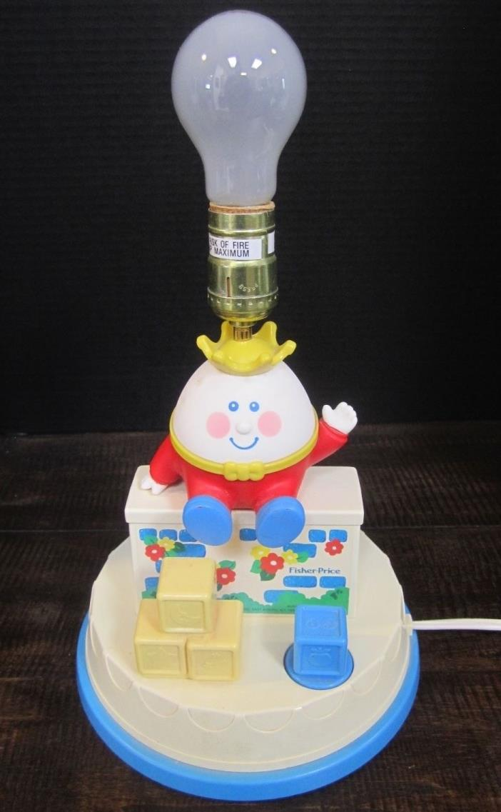 Humpty Dumpty Nursery Lamp Musical Fisher Price 1985 good, working condition
