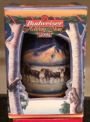 2000 Budweiser Holiday Stein ~ Holiday in the Mountains