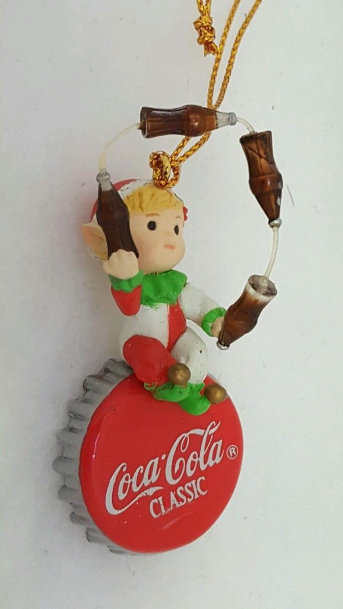 Vintage 1993 Enesco Miniature A CLASS ACT Coca Cola Ornament NEW Undisplayed