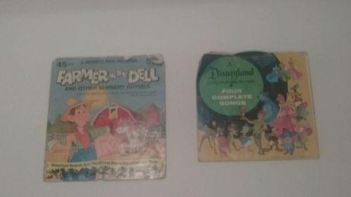 Vintage Disney Cartoon Kids Records