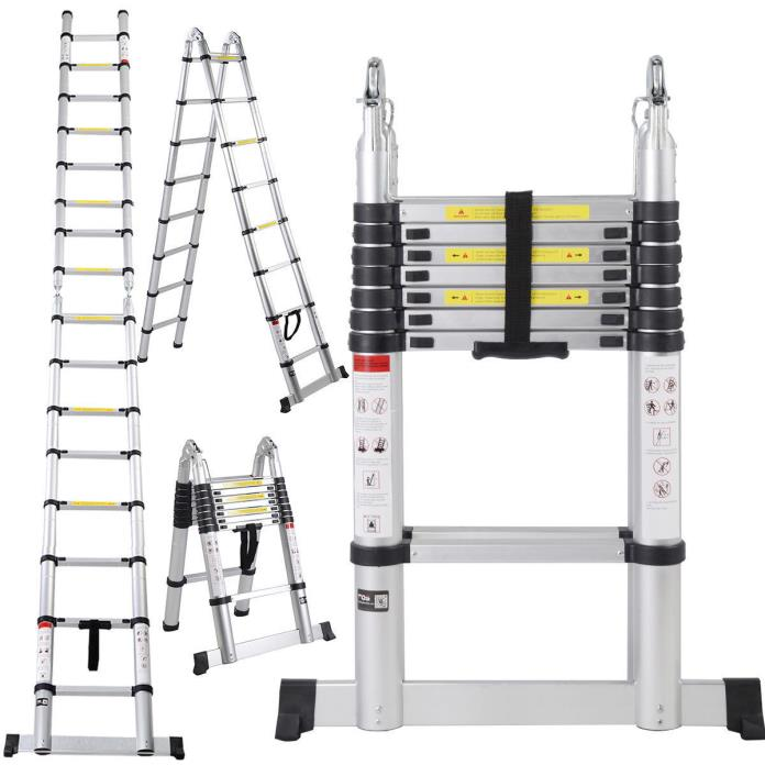 Easy Storage And Travel Telescopic Extension Ladder Business And Home Use 16.5FT