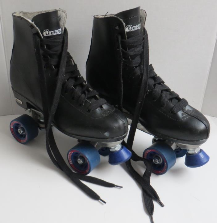 Chicago Roller Skates Mens US Size 11 EUR 44-45 Black High Top  Blue Wheels
