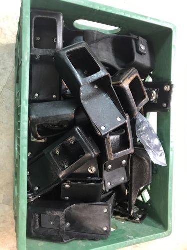 Lot Of 38 Universal Duty Belt Handheld Radio Holder Holster W/ Swivel Belt Clip