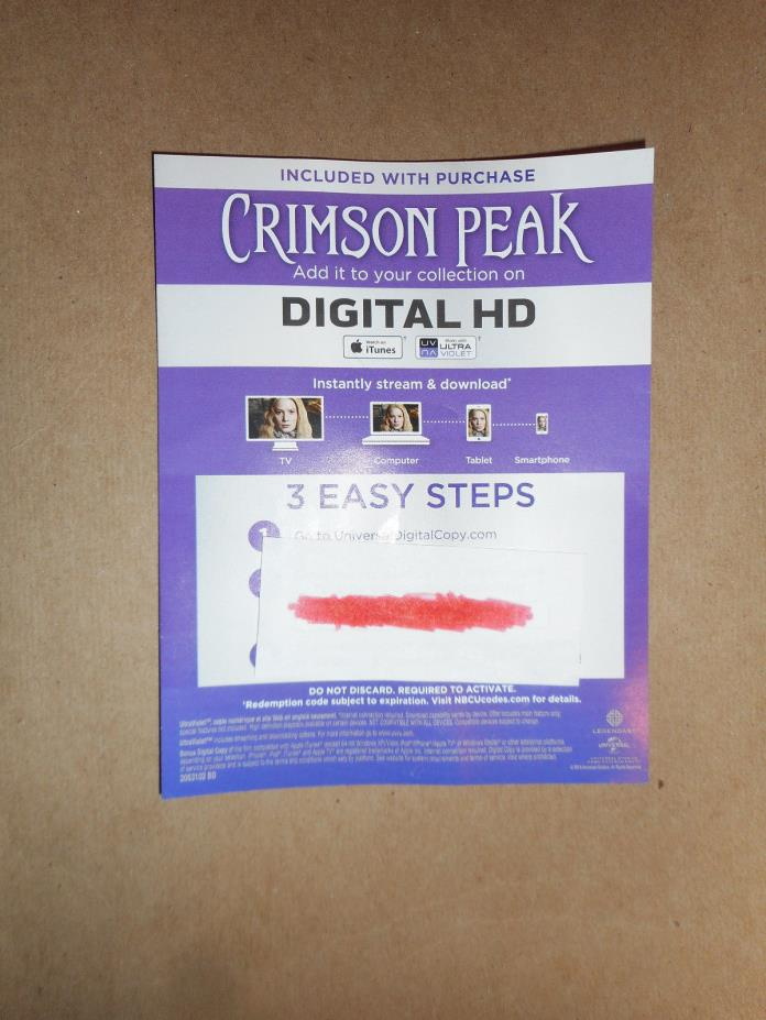 Crimson Peak HD Digital Code