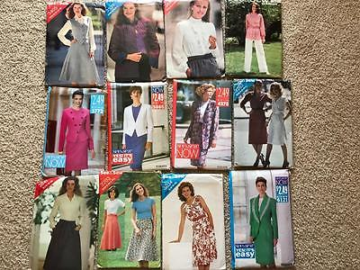 Large 145 Lot Vintage Sewing Patterns McCalls See & Sew Butterick Uncut 1980's