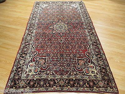 4x8 Antique Fine Persian Bidjar Vegetable Dye Handmade-knotted Wool Rug 582858