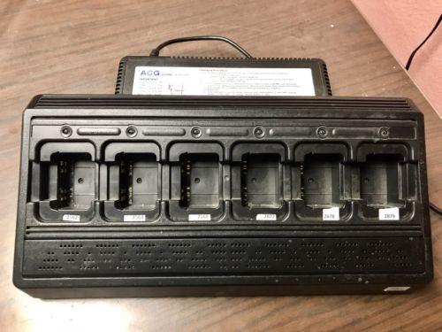 Icom Handheld Portable Radio 6 Bank Gang Rack Charger With Power Cord