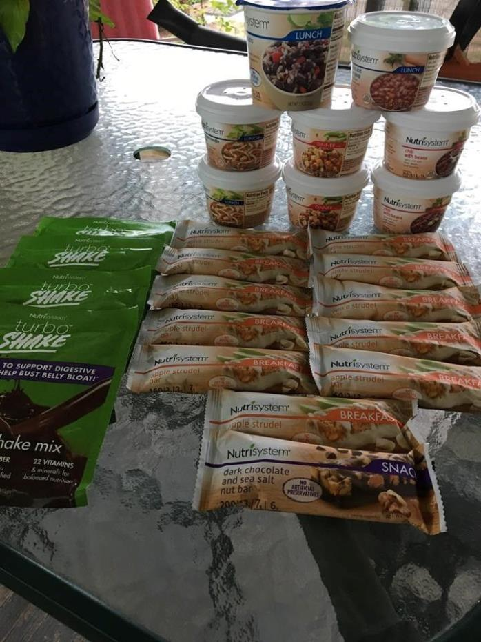 nutrisystem Bars and Turbo Shakes