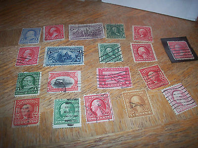 Lot of 19 different US stamps pre Scott 400 used