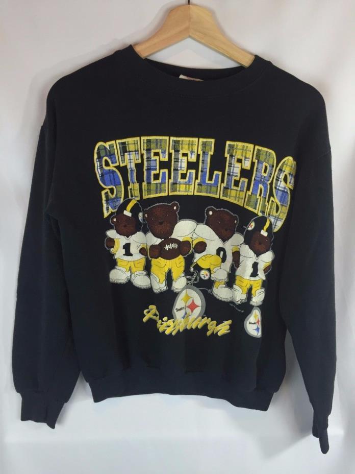 Vintage Pittsburgh Steelers Youth Crewneck Size Kids Medium M Rare NFL Retro BD
