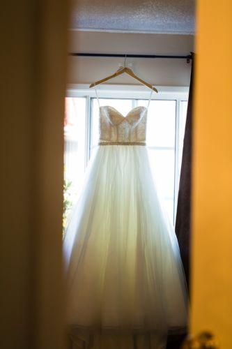 davids bridal wedding dress Ivory Sweetheart Size 2