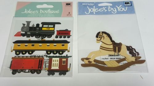 jolee's boutique lot of 2 toddler themed scrapbooking stickers