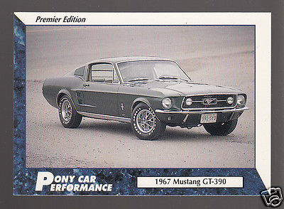 1967 FORD MUSTANG GT-390 Pony Car Picture TRADING CARD