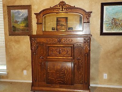 antique quartersawn oak American Murphy Bed