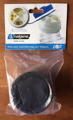 NEW Nalgene Pillid -- Pill Lid-- Black Storage Lid For Water Bottle -- Accessory