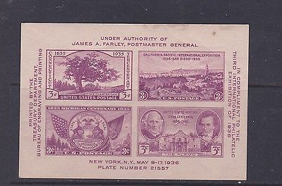 US Mint Souvenir Sheet Sc#778 MNH