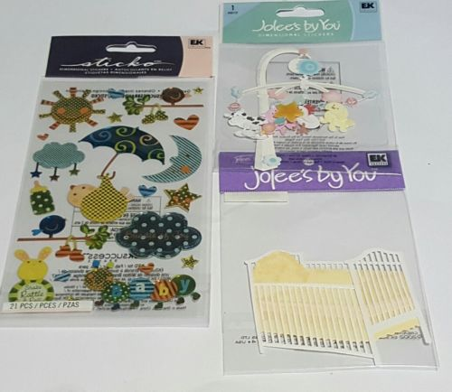 jolee's boutique and sticko lot of 3 baby themed scrapbooking stickers