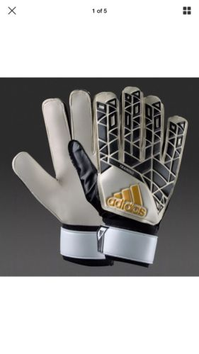 Adidas Ace Training Soccer Gloves New Positive Cut White Retail $20 Size 10