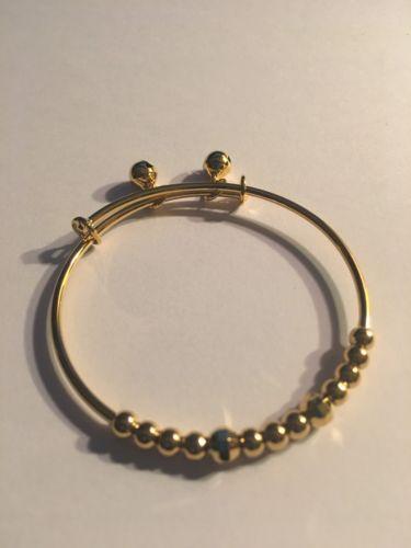 NEW Child Toddler Kids Baby18K Real Gold Filled Bell Bangle Bracelet-B31