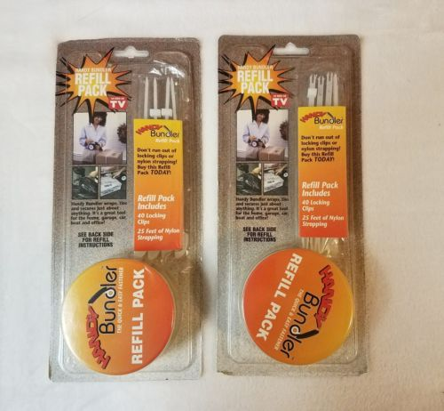 Handy Bundler Refill Packs, Qty 2, Unused