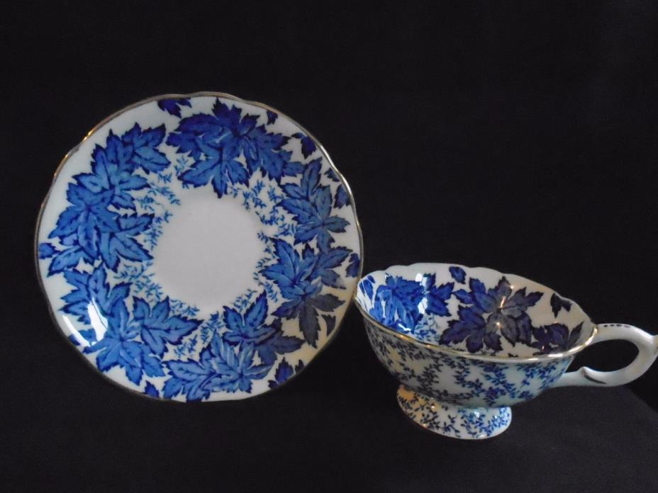 Coalport Blue Ivy Cup and Saucer