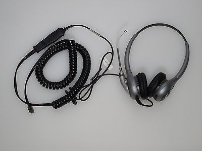 Plantronics SupraPlus SL H361 Binaural/Dual-ear Headset with Extras~Home Office