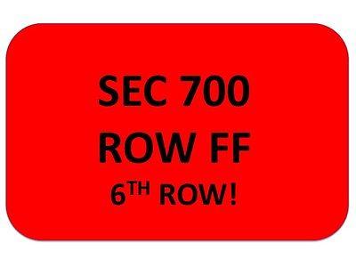 LUKE BRYAN Tickets Riverbend Music Center 6/1~ SEC 700 ROW FF~ *6TH ROW*!!!