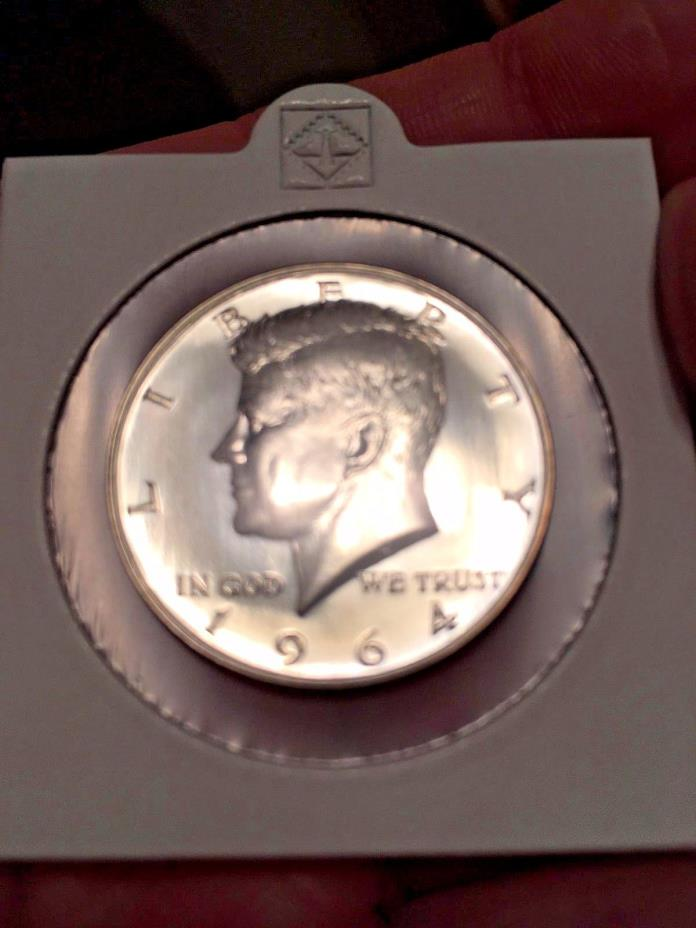 1964 ACCENTED HAIR KENNEDY SILVER PROOF HALF DOLLAR OUT OF PROOF SET IMMACULATE!
